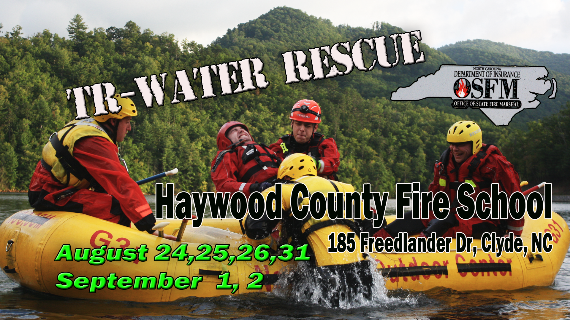 2018 TR Water Rescue Haywood